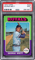 Baseball Cards:Singles (1970-Now), 1975 Topps George Brett #228 PSA Mint 9. The color...