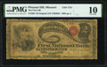 National Bank Notes:Missouri, Pleasant Hill, MO - $2 Original Fr. 389 The First National Bank Ch. # 1751 PMG Very Good 10.. ...