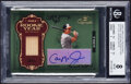 Baseball Cards:Singles (1970-Now), 2004 Donruss Timeless Treasures Rookie Year Materials Autograph Cal Ripken Jr. #RY-11 BGS NM-MT 8, Auto 9 - Serial Numbered 6/...