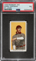 Baseball Cards:Singles (Pre-1930), 1909-11 T206 Piedmont 350 Danny Hoffman (St. Louis) PSA NM 7 - Only Three Higher With This Brand & Series. ...