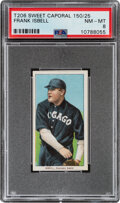 Baseball Cards:Singles (Pre-1930), 1909-11 T206 Sweet Caporal 150/25 Frank Isbell PSA NM-MT 8 - Pop One, None Higher With This Brand/Series/Factory Combination. ...