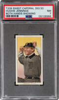 Baseball Cards:Singles (Pre-1930), 1909-11 T206 Sweet Caporal 350/30 Hughie Jennings (Both Hands Showing) PSA NM 7 - Pop One, Only One Higher With This Brand/Ser...