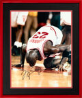 Basketball Collectibles:Photos, 1994 Michael Jordan Signed Oversized Photograph of Last Game at Chicago Stadium from The Robert C. Scarpetti Collection....