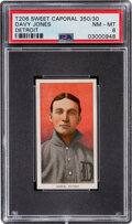 Baseball Cards:Singles (Pre-1930), 1909-11 T206 Sweet Caporal 350/30 Davy Jones (Detroit) PSA NM-MT 8 - Pop Three, None Higher With This Brand/Series/Factory Com...