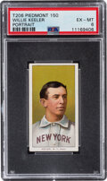 Baseball Cards:Singles (Pre-1930), 1909-11 T206 Piedmont 150 Willie Keeler (Portrait) PSA EX-MT 6 - Pop Four, Only One Higher With This Brand & Series. ...