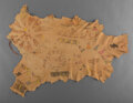 American Indian Art:Beadwork and Quillwork, A Blackfeet Painted Hide...
