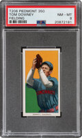 Baseball Cards:Singles (Pre-1930), 1909-11 T206 Piedmont 350 Tom Downey (Fielding) PSA NM-MT 8 - Pop One, None Higher With This Brand & Series. ...