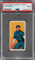 Baseball Cards:Singles (Pre-1930), 1909-11 T206 Sweet Caporal 350/30 Jean Dubuc PSA Mint 9 - Overall, the Only Mint Example! ...