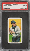 Baseball Cards:Singles (Pre-1930), 1909-11 T206 Sweet Caporal 350-460/42 Hugh Duffy PSA NM 7 - Pop One, None Higher With This Brand/Series/Factory Combination. ...