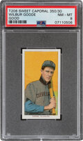 Baseball Cards:Singles (Pre-1930), 1909-11 T206 Sweet Caporal 350/30 Wilbur Good PSA NM-MT 8 - Pop One, None Higher With This Brand/Series/Factory Combination. ...