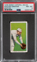 Baseball Cards:Singles (Pre-1930), 1909-11 T206 Sweet Caporal 350/30 Peaches Graham (Boston) PSA NM-MT 8 - Pop One, None Higher With This Brand/Series/Factory Co...
