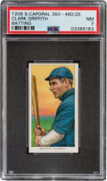 Baseball Cards:Singles (Pre-1930), 1909-11 T206 Sweet Caporal 350-460/25 Clark Griffith (Batting) PSA NM 7 - Pop Two, One Higher With This Brand/Series/Factory C...