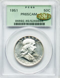 1951 50C PR65 Cameo PCGS. Gold CAC. PCGS Population: (116/130 and 1/8+). NGC Census: (146/143 and 0/2+). PR65. Mintage 5...