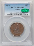 1870 25C Quarter, Judd-884, Pollock-982, High R.6, PR63 Brown PCGS. CAC. PCGS Population: (3/3). NGC Census: (0/5). ...(...