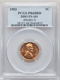 1953 1C Doubled Die Obverse, FS-101, PR68 Red PCGS. PCGS Population: (2/0). NGC Census: (7/0). From The Maltese Coll...(...