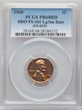 1960 1C Large Over Small Date, FS-101, PR68 Red PCGS. PCGS Population: (5/0). NGC Census: (0/0). From The Maltese Co...(...