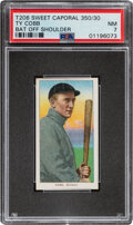 Baseball Cards:Singles (Pre-1930), 1909-11 T206 Sweet Caporal 350/30 Ty Cobb (Bat Off Shoulder) PSA NM 7 - Pop Four, Only Two Higher With This Brand & Series. ...