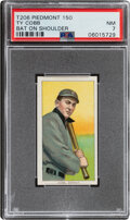 Baseball Cards:Singles (Pre-1930), 1909-11 T206 Piedmont 150 Ty Cobb (Bat On Shoulder) PSA NM 7 - Pop Four, None Higher With This Brand. ...