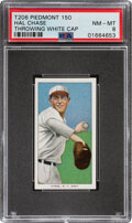Baseball Cards:Singles (Pre-1930), 1909-11 T206 Piedmont 150 Hal Chase (Throwing-White Cap) PSA NM-MT 8 - Pop One, Only Two Higher With This Brand & Series. ...