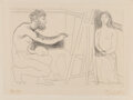 Prints & Multiples, Pablo Picasso (1881-1973). Peintre devant son Chevalet, from Chef-d'Oeuvre Inconnu, 1931. Etching on Rives BFK paper...