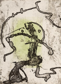 Joan Miró (1893-1983) Rupestres X, 1978 Etching and aquatint in colors with carborundum on Arches pa