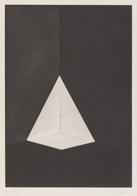 James Turrell (b. 1941) B2, from First Light Series, 1989 Etching and aquatint on Zerkall