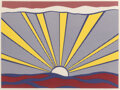 Prints & Multiples, Roy Lichtenstein (1923-1997). Sunrise, 1965. Offset lithograph in colors, on lightweight wove paper. 18-1/4 x 24-3/8 inc...