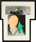 Prints & Multiples, John Baldessari (b. 1931). Person With Conscience (Green) Animals Quiescent, 1991. Photogravure and aquatint in colors o...