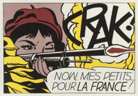 Roy Lichtenstein (1923-1997) Crak!, 1964 Offset lithograph in colors on wove paper 20 x 28-1/2 in