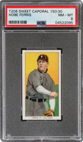 Baseball Cards:Singles (Pre-1930), 1909-11 T206 Sweet Caporal 150/30 Hobe Ferris PSA NM-MT 8 - Pop Two, None Higher With This Brand/Series/Factory Combination. ...