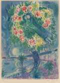 Prints & Multiples, After Marc Chagall. By Charles Sorlier. Couple et Poisson, from Nice et la Côte d'Azur, 1967. Lithograph in colo...