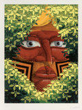 Prints & Multiples, Nunca (Francisco Rodrigues da Silva) (20th Century). Blonde Indigenous, 2016. Lithograph in colors on White BFK Rives pa...