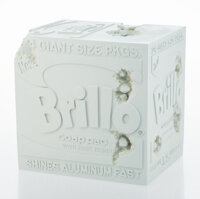 Daniel Arsham X The Andy Warhol Museum Eroded Brillo Box, 2020 Plaster with glass fragments 9-3/4
