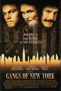 """Gangs of New York & Other Lot (Miramax, 2002). Rolled, Very Fine-. Autographed One Sheet (27"""" X 40"""") &..."""