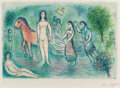 Prints & Multiples, Marc Chagall (1887-1985). Homère, from L'Odyssée, 1975. Lithograph in colors on Japon Nacre paper. 17 x 25-1/2 inche...