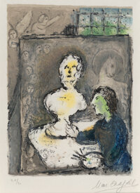 Marc Chagall (1887-1985) Untitled, from L'Odyssée, 1975 Lithograph in colors on Japon Nac