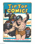 Platinum Age (1897-1937):Miscellaneous, Tip Top Comics #16 (United Features Syndicate, 1937) Condition: VG.Tarzan cover and story. One-inch spine split at top. Ove...