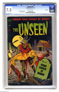 Golden Age (1938-1955):Horror, The Unseen #9 Bethlehem pedigree (Standard, 1953) CGC VF- 7.5Off-white pages. Alex Toth, Jack Katz, and Mike Sekowsky art. ...