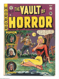 Golden Age (1938-1955):Horror, Vault of Horror #19 (EC, 1951) Condition: VG/FN. Johnny Craigcover. Craig, Jack Davis, Graham Ingels, and Jack Kamen art. O...