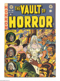 Golden Age (1938-1955):Horror, Vault of Horror #28 (EC, 1953) Condition: FN. Johnny Craig coverart. Jack Davis, Craig, and Graham Ingels interior art. Ove...