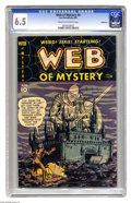 Golden Age (1938-1955):Horror, Web of Mystery #4 Bethlehem pedigree (Ace, 1951) CGC FN+ 6.5 Creamto off-white pages. Gene Colan art. Includes a certificat...