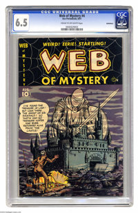 Web of Mystery #4 Bethlehem pedigree (Ace, 1951) CGC FN+ 6.5 Cream to off-white pages. Gene Colan art. Includes a certif...