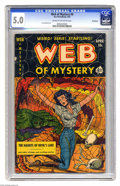 Golden Age (1938-1955):Horror, Web of Mystery #8 Bethlehem pedigree (Ace, 1952) CGC VG/FN 5.0Cream to off-white pages. Lou Cameron art. Includes a certifi...
