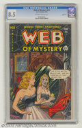 Golden Age (1938-1955):Horror, Web of Mystery #10 Bethlehem pedigree (Ace, 1952) CGC VF+ 8.5Off-white to white pages. Includes a certificate of authentici...