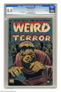 Golden Age (1938-1955):Horror, Weird Terror #5 Bethlehem pedigree (Comic Media, 1953) CGC VF 8.0Off-white to white pages. Article on body snatching and mu...