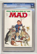 "Magazines:Mad, Mad #184 Gaines File pedigree (EC, 1976) CGC NM 9.4 Off-white to white pages. ""One Flew Over the Cuckoo's Nest"" movie spoof...."