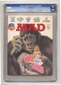 """Magazines:Mad, Mad #192 Gaines File pedigree (EC, 1977) CGC NM 9.4 Off-white to white pages. """"king Kong"""" cover and parodies. """"Network"""" movi..."""