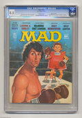 """Bronze Age (1970-1979):Humor, Mad #194 Gaines File pedigree (EC, 1977) CGC VF+ 8.5 Off-white pages. """"Laverne & Shirley"""" TV spoof. """"Rocky"""" cover and parody..."""
