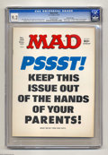 "Magazines:Mad, Mad #195 Gaines File pedigree (EC, 1977) CGC NM- 9.2 Off-whitepages. ""Airport 1977"" and ""Black Sunday"" movie parodies. ""Bar..."
