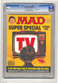 Magazines:Mad, Mad Super Special #34 Gaines File pedigree (EC, 1981) CGC NM- 9.2Off-white to white pages. Special TV issue. Overstreet 200...